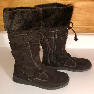 Jellypop Brown Faux Fur Lined Suede Boots - 8.5